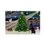 XmasMagic/Dobie (1) Rectangle Magnet (10 pack)