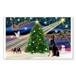 XmasMagic/Dobie (1) Sticker (Rectangle 50 pk)