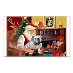 Santa's white EBD Sticker (Rectangle)
