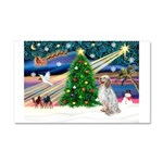 XmasMagic/ English Setter Car Magnet 20 x 12
