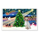XmasMagic/ English Setter Sticker (Rectangle 50 pk