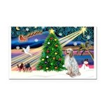 XmasMagic/ English Setter Rectangle Car Magnet