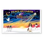 XmasSunrise/Eng Springer Sticker (Rectangle 10 pk)