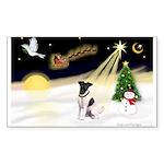 Night Flight/Fox Terrier Sticker (Rectangle 50 pk)