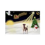 Night Flight/Fox Terrier 5 Rectangle Magnet
