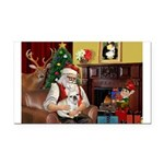 Santa's French BD (1) Rectangle Car Magnet