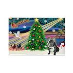 XmasMagic/French Bulldog Rectangle Magnet (10 pack
