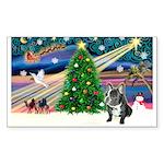 XmasMagic/French Bulldog Sticker (Rectangle 50 pk)