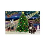XmasMagic/French Bulldog Rectangle Magnet