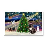 XmasMagic/French Bulldog Rectangle Car Magnet