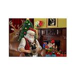 Santa's G-Shepherd (#2) Rectangle Magnet (10 pack)
