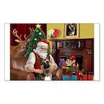Santa's G-Shepherd (#2) Sticker (Rectangle 50 pk)