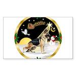 Night Flight/German Shepherd Sticker (Rectangle)
