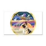 XmasStar/ German Shepherd Rectangle Car Magnet