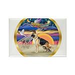 XmasStar/German Shepherd Rectangle Magnet