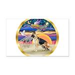 XmasStar/German Shepherd Rectangle Car Magnet