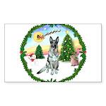 Take Off1/ German Shepherd Sticker (Rectangle 50 p