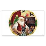 Santa's German Shepherd Sticker (Rectangle 10 pk)