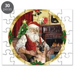 Santa's German Shepherd Puzzle