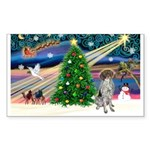 Xmas Magic/German SHP Sticker (Rectangle 10 pk)