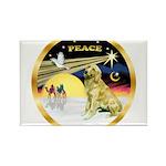XmasDove/Golden #1B Rectangle Magnet (10 pack)