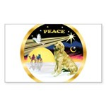 XmasDove/Golden #1B Sticker (Rectangle)