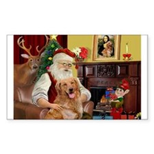 Santas Gold Retriever Decal