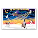 XmasSunrise/Great Dane Sticker (Rectangle)