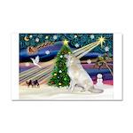 Santa's Great Pyrenees Car Magnet 20 x 12