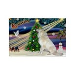 Santa's Great Pyrenees Rectangle Magnet (10 pack)