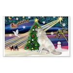 Santa's Great Pyrenees Sticker (Rectangle 10 pk)