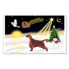 Night Flight/Irish Setter Sticker (Rectangle 10 pk