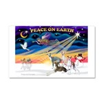 XmasSunrise/4 Ital Greyhounds Car Magnet 20 x 12