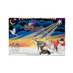 XmasSunrise/4 Ital Greyhounds Rectangle Magnet (10