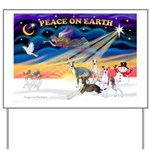 XmasSunrise/4 Ital Greyhounds Yard Sign