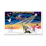 XmasSunrise/4 Ital Greyhounds Rectangle Car Magnet