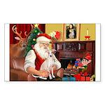 Santa's Ital Greyhound Sticker (Rectangle 10 pk)