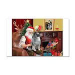 Santa/Keeshond Car Magnet 20 x 12