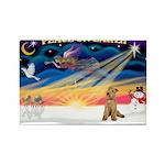XmasSunrise/Lakeland T Rectangle Magnet (10 pack)