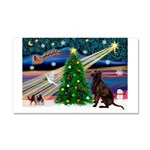 Xmas Magic & Choc Lab Car Magnet 20 x 12