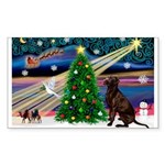 Xmas Magic & Choc Lab Sticker (Rectangle 10 pk)