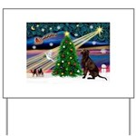 Xmas Magic & Choc Lab Yard Sign