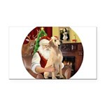 Santa's Lab (Y-lap) Rectangle Car Magnet