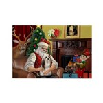 Santa's Lhasa Apso Rectangle Magnet (10 pack)