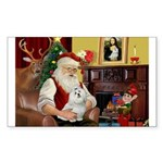 Santa's Maltese Sticker (Rectangle 50 pk)
