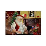 Santa's Maltese Rectangle Magnet (10 pack)