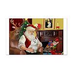 Santa's Maltese Rectangle Car Magnet