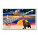 XmasStar/ Newfie Sticker (Rectangle 10 pk)