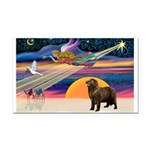 XmasStar/ Newfie Rectangle Car Magnet