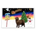 XmasSigns/Newfie Sticker (Rectangle 50 pk)